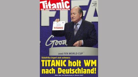 Titanic-Heft 08/2000: Ging bei der Vergabe der WM 2006 wirklich alles sauber zu?