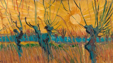 van Gogh Weiden Sonnenuntergang