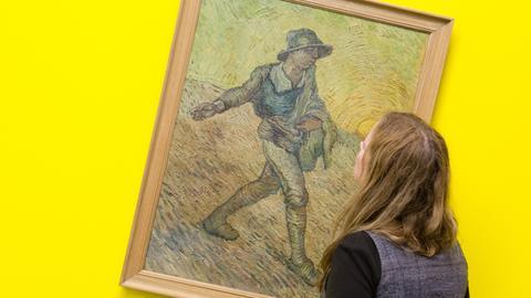 """Die Fälschung des Gemäldes """"Der Sämann"""" (1928) von Vincent van Gogh des Fälschers Leonhard Wacker"""