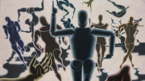 Victor Vasarely (1906–1997), Étude homme en mouvement, 1943