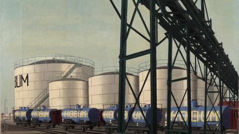 Carl Grossberg, Weiße Tanks (Harburger Ölwerke), 1930