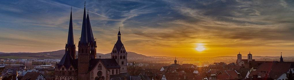 Sonnenuntergang in Gelnhausen