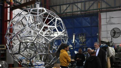 Kugelgestell aus Leichtmetall in der Werkstatt