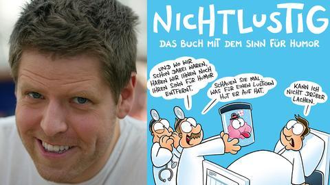 """Joscha Sauer und Cover """"Nicht lustig"""""""