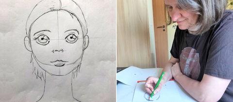 Kombo Sonja beim Zeichnen plus Illustration Manga