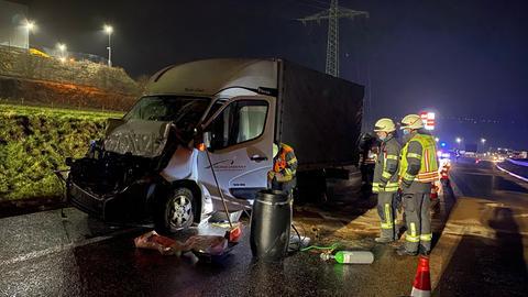 Unfall Lkw A4
