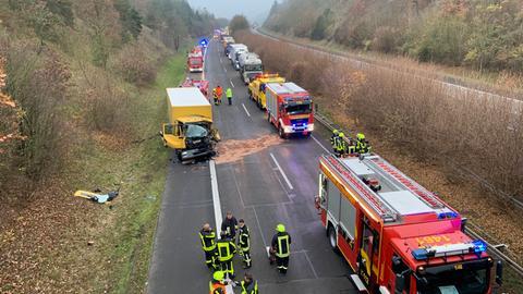 A45 Unfall Lkw