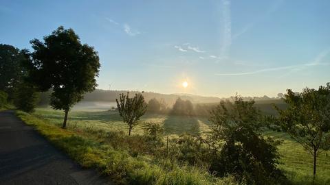 Sonnaufgang in Osthessen