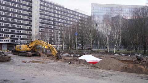 Auf einer Baustelle in Niederrad wurde eine Weltkriegsbombe gefunden.