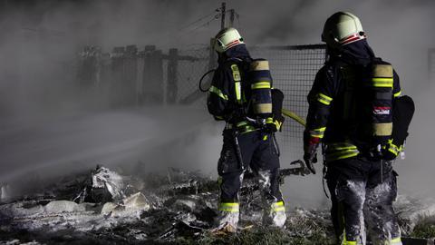 Brand Darmstadt Gartenhütte