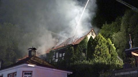 Feuerwehreinsatz in Erbach