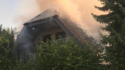 Brand in einem Wohnhaus in Gießen-Lützellinden