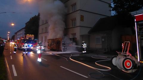 Brand Müllcontainer Kassel