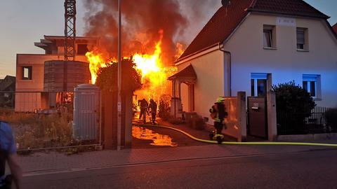 Scheunenbrand in Viernheim