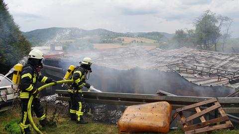 Werkstattbrand in Witzenhausen