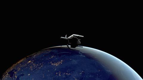Satellit der Raumfahrtmission ClearSpace-1 der ESA