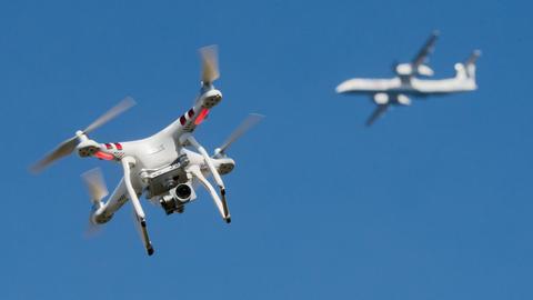 Drohnen stellen eine Gefahr für den Luftverkehr dar.