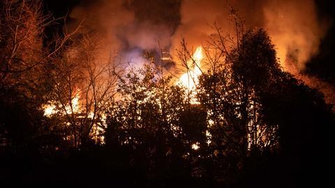 Feuer in einer Wiesbadener Gartenlaube