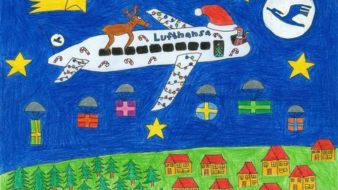 Janine Friedberg Lufthansa Malwettbewerb Weihnachten