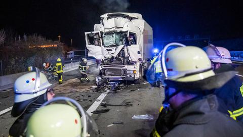 Lkw-Unfall in der Nähe von Frankfurt