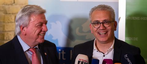 Volker Bouffier (li.) und Tarek Al-Wazir