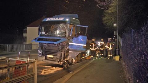 Lkw-Unfall in Bad Hersfeld