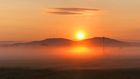 Sonnenaufgang am Glauberg