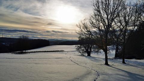 Winteridylle im Lahn-Dill-Bergland