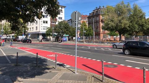 Radweg am Friedberger Platz