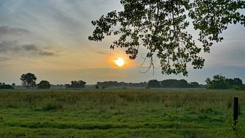 Sonnenaufgang am Reinheimer Teich