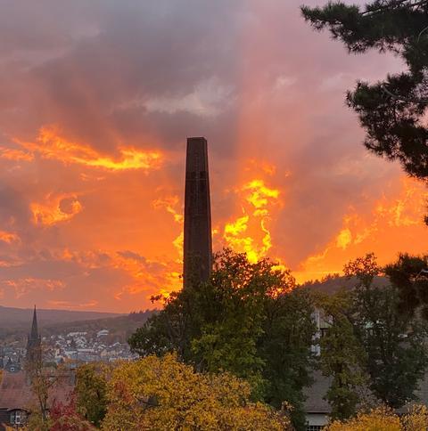 Sonnenuntergang über Bad Nauheim