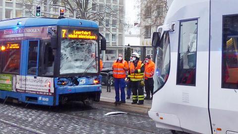 Straßenbahn-Unfall in Kassel