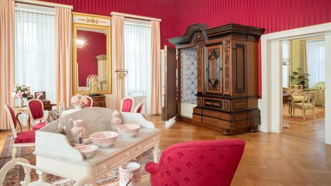 Das Toilettenzimmer im Schloss Bad Homburg