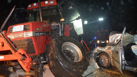 Traktor-Unfall