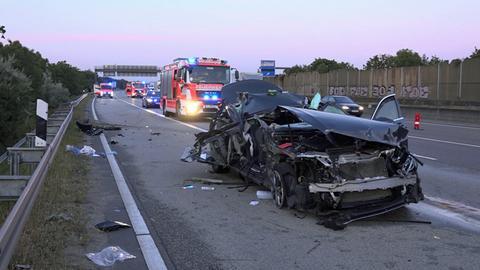 Rettungseinsatz nach Unfall auf der A5