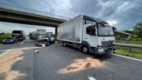 Unfall Lkw A66