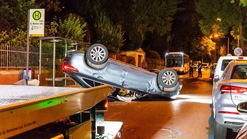 SUV Wiesbaden Unfall