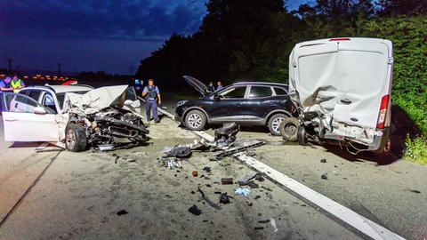 Polizeieinsatz an der Unfallstelle