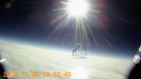 Eine Aufnahme der Erde - aus dem Wetterballon heraus.