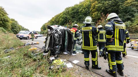 Unfallstelle auf der A3 bei Niedernhausen