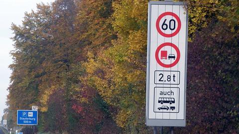 Beschilderungen auf der A45