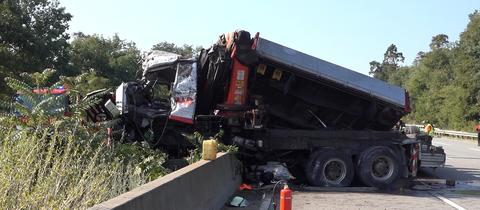 Lastwagen-Unfall auf A67