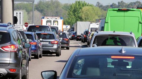 Bis auf elf Kilometer staute sich der Verkehr auf der A67 nach dem Unfall