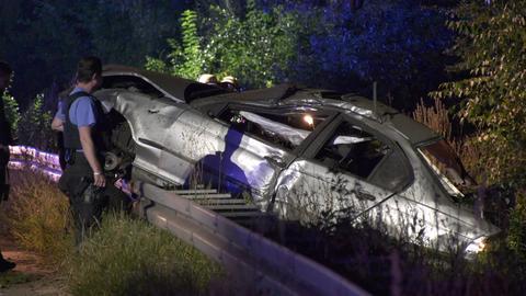 A67 Unfall Rüsselsheim