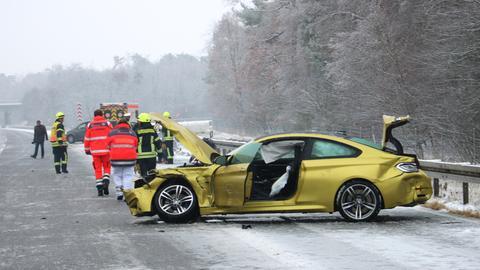 Unfall auf der A67 bei Viernheim