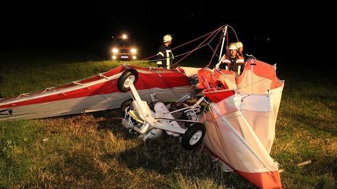 Bild des abgestürzten Flugzeuges.