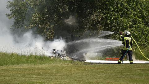 Beim Absturz eines Segelfliegers am Fuldaer Aueweiher kam der Pilto ums Leben