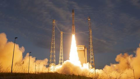"""Start des """"Aeolus""""-Satellits vom Weltraumbahnhof Kourou"""
