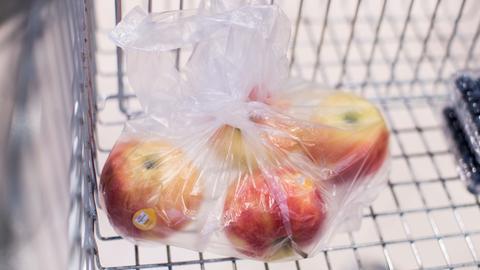 Äpfel Plastiktüte