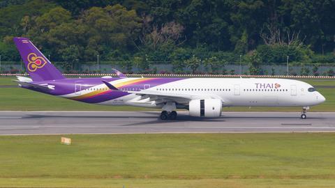 Ein Airbus 350-900 der Fluggesellschaft Thai Airways